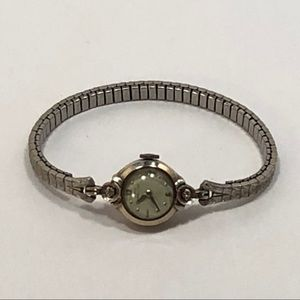 Hamilton 14k White Gold Ladies Watch - Vintage